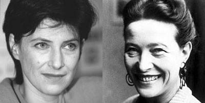 Chantal Akerman y Simone de Beauvoir