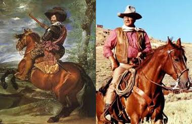 El caballero. El vaquero.