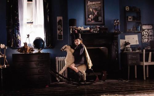 Samuel como pequeño Georges Méliès