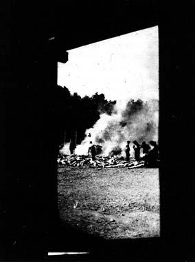 Un miembro del Sonderkommando logró robar esta imagen al Holocausto.