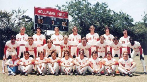 Fotografía del equipo de béisbol en el que jugó Richard Linklater